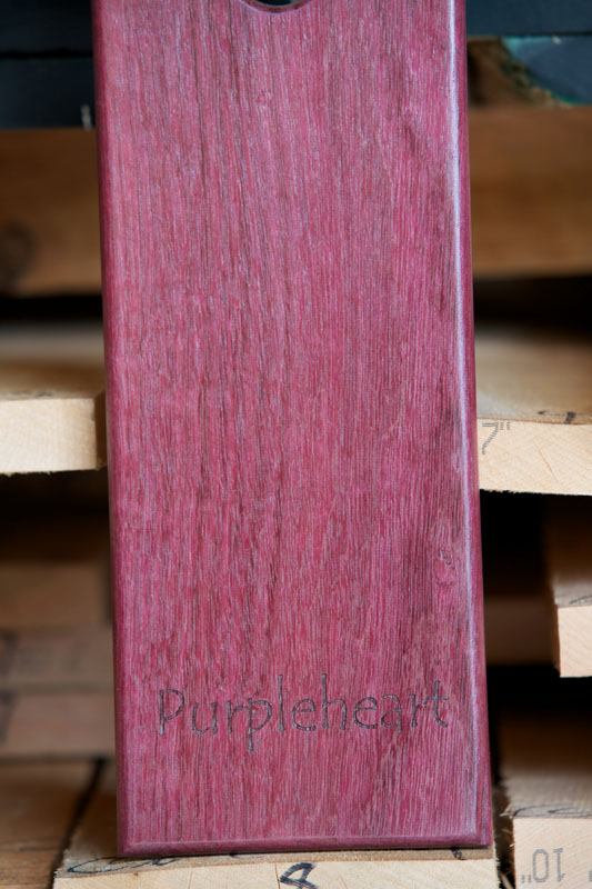 Retail highland hardwoods for Purple heart flooring